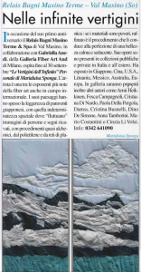 """Articolo tratto da """"Il Corriere dell'Arte - Luglio 2010"""""""
